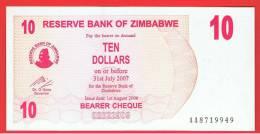 ZIMBABWE - 10  Dolar  2006 SC  P-39 - Zimbabwe