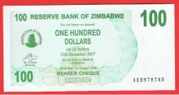 ZIMBABWE - 100  Dolar  2006 SC  P-42 - Zimbabwe