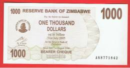 ZIMBABWE -  1000  Dolar  2006 SC  P-44 - Zimbabwe