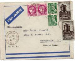 FRANCE LETTRE PAR AVION VIA CLIPPER DEPART PAU 15-1-41 POUR WASHINGTON (U.S.A) - 1927-1959 Briefe & Dokumente