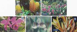 Brésil 8 Cartes Série Fleurs - Flowers - Brésil