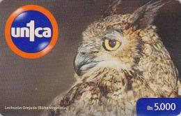 Télécarte Prépayée VENEZUELA - HIBOU / 5000 - OWL Bird Prepaid Phonecard - EULE Vogel Unica - 2233 - Eulenvögel