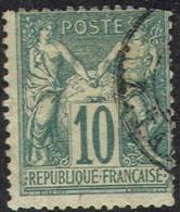 # France   68, Used,  Type  L,   Michel 60l ,  (fr068-11,  10- Bb - 1876-1878 Sage (Type I)