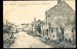 08 GIVONNE / Rue Des Dames Incendiée Par Les Allemands / - Francia