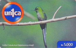 Télécarte Prépayée Venezuela - Oiseau COLIBRI - Humming Bird Prepaid Phonecard - Vogel Telefonkarte Unica - 2248 - Sperlingsvögel & Singvögel
