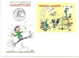 "France  Oblitéré 1er Jour ; Y&T;  N°3370, BF34 ; "" Gaston Lagaffe "" - FDC"