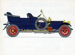 LABORATOIRES ROUSSEL    HISTOIRE DE L' AUTOMOBILE    Rolls Royce 40 50 .1908.  GRANDE-BRETAGNE ( V10) - Fiches Illustrées