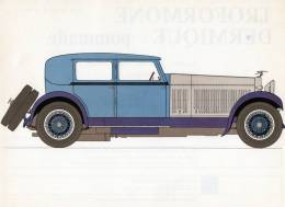 LABORATOIRES ROUSSEL    HISTOIRE DE L' AUTOMOBILE   Hispano Suiza 45 .1928.   FRANCE  ( V14) - Picture Cards