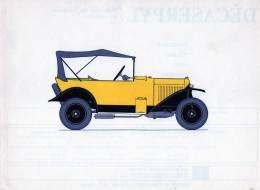 LABORATOIRES ROUSSEL    HISTOIRE DE L' AUTOMOBILE  Citroen. 1925 . FRANCE  ( V24) - Picture Cards