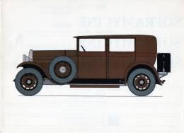 LABORATOIRES ROUSSEL    HISTOIRE DE L' AUTOMOBILE  Darracq. 1929. FRANCE.  ( V31) - Fiches Illustrées