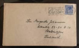 Netherlands: Cover Sent To Finland 1939 - Fine - Periode 1891-1948 (Wilhelmina)