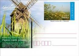 POLAND - Postcard - 2013.04.30. Cp 1642 - The Beauty Of Polish Land (monastery In Lubin) - Windmill In Swierczyn - Interi Postali