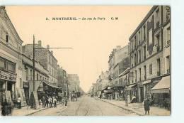 MONTREUIL Sous BOIS - Rue De PARISavec Beau Plan Animé - Edition C.M. - TBE - 2 Scans - Montreuil