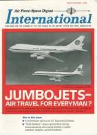 Air Force / Space Digest - INTERNATIONAL - SEPTEMB 1966  - Pentagon - Avions - Fusées - Espace -  (3295) - Revistas & Periódicos