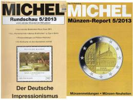 MICHEL Briefmarken Rundschau 5/2013 Neu 5€ New Stamp Of The World Catalogue And Magacine Of Germany ISBN 4 194371 105009 - Hobbies & Collections