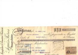 Lettre Change 1923 AYNES Bonneterie Fantaisie CHALON Sur SAÔNE Pour Roanne Loire - Timbre Fiscal - Lettres De Change
