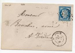 N°60a VARIETE BARAT/SUARNET N°40- Petit Rond Net Sur 5 Droit ,sur Lettre - 1871-1875 Ceres