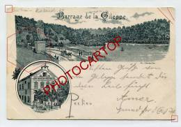 Barrage De La GILEPPE-Cafe-Victor VROOMEN-LITHOGRAPHIE-PIONNIERE-1898-BELGIEN-BELGIQUE- - Baelen