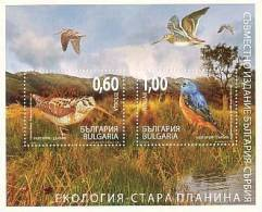 BULGARIA \ BULGARIE - 2009 - Ecology - Oiseaux - Emision Commune - Bulgarie - Serbien - Bl** (10) - Ungebraucht