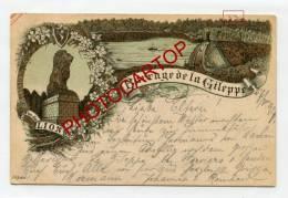 Barrage De La GILEPPE-Vue Du LION-LITHOGRAPHIE-PIONNIERE-28-5-1897-BELGIEN-BELGIQUE- - Baelen