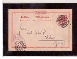 DE30   -   GERMANIA STORIA POSTALE   -   POSTKARTE     FRANKFURT/WOHLEN     8.5.1899 - Entiers Postaux