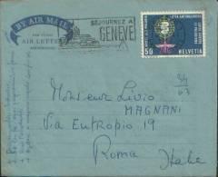 AIR LETTER PAR AVION AEROGRAMME X ROMA Avec AFFRANCHISEMENT MECANIQUE - Altri Documenti
