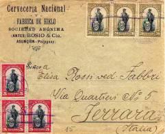 070 - PARAGUAY - STORIA POSTALE - LETTERA SPEDITA IN ITALIA 1912 - Paraguay