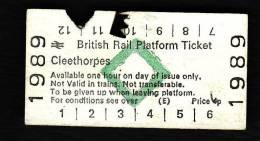 Railway Platform Ticket CLEETHORPES BRB(E) Green Diamond Edmondson - Europe