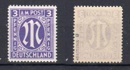 19.9.1946, Série Courante Pour Collectionneur Spéciale, Michel N° 10By, Neuf **, Signé Schlegel, Lot 38781 - Zone Anglo-Américaine