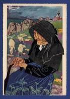 22 ILE DE BREHAT Femme Gardienne De Moutons, Dessin De Charles Homualk - Animée - Homualk
