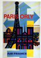 Air France Paris Orly Porte De L'Europe, Nathan 1962, Collection Musee Air France, Editions Arno, Tour Eiffel - Non Classés