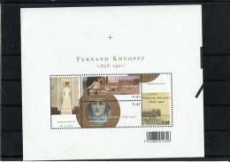 216211375 BELGIE POSTFRIS MINT NEVER HINGED POSTFRISCH EINWANDFREI OCB  BLOK 107 Bl107 Bl 107 FERNAND KHNOPFF - Blocks & Sheetlets 1962-....