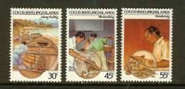 COCOS ISLANDS 1985 MNH Stamp(s) Handycrafts 131-133 - Cocos (Keeling) Islands