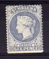 St Helena - 1880 - 6 Pence Definitive (Perf 14 X 14) - MH - Sainte-Hélène