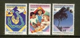 COCOS ISLANDS 1987 MNH Stamp(s) Christmas 180-182 - Christmas