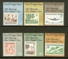 COCOS ISLANDS 1988 MNH Stamp(s) Stamps On Stamps 192-197 - Stamps On Stamps