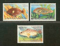 COCOS ISLANDS 1980 MNH Stamp(s) Fishes 50-52 - Fishes