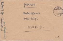Feldpost WW2: To Dreux, France: Sicherungs-Regiment 66 (3. Kompagnie) FP 05645D Dtd Renau 8.3.1943 - Cover Only (C4) - Militares