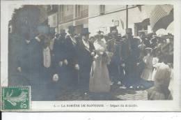 LA ROSIERE DE NANTERRE - Départ Du Domicile - CARTE PHOTO - Nanterre