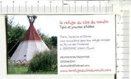 Cartonette Publicitaire - Le REFUGE Du CLOS Du MOULIN  -  TIPIS - Plaques Publicitaires