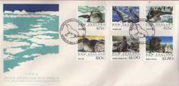Faune Marine Terre De Ross Antarctique (Phoques,leopards,Elephan Ts,Lions De Mer) FDC 1168/73. - Dépendance De Ross (Nouvelle Zélande)