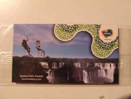 Alt267 Magnete Calamita Magnet Turismo Tourism Brasile Brasil Iguassu Iguazu Falls Cascate Cascade - Tourisme