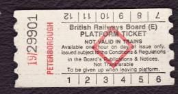 Railway Platform Ticket PETERBOROUGH BRB(E) Red Diamond AA - Railway