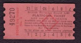 Railway Platform Ticket STOKE ON TRENT No.2 BRB(LM) Red Diamond AA - Railway