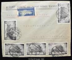 14143 Par Avion De Moscou à Saint Etienne, Enveloppe En Tête Dubosc Le Havre 20/07/1937 - Lettres & Documents