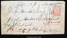 14150 Moneyletter 50 Florint, Franco 35x, Allitolag TATA Vers Francfort, 5 Sceaux Au Revers 26/11/1871 - Entiers Postaux