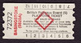 Railway Platform Ticket BASINGSTOKE (5520A) BRB(S) Red Diamond AA - Railway