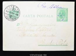 14187 Entier Corrigé Au Bic H Balca Vers Budapest 1901 - 1881-1918: Charles Ier
