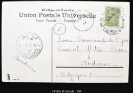 14193 Carte Postale Couleur De (?) à Andenne (Belgique) Via Port Saïd Le 02/04/1912 - Levant