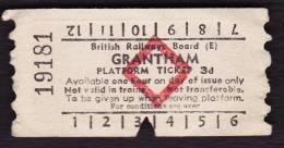 Railway Platform Ticket GRANTHAM BRB(E) Red Diamond AA - Railway